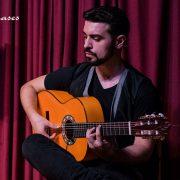 guitarrista flamenco en Palau Dalmases